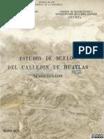 ESTUDIOS DE SUELOS DEL CALLEJON DE HUAYLAS