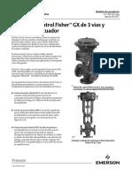 Product Bulletin Válvula de Control Fisher Gx de 3 Vías y Sistema de Actuador Fisher Gx 3 Way Control Valve Actuator System Spanish Universal Es 135010
