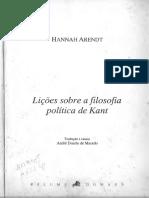 ARENDT, Hannah - Lições Sobre a Filosofia Política de Kant.