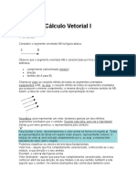 Cálculo Vetorial I