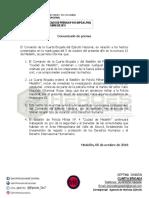 Comunicado de Prensa 05-10-18 IV Brigada