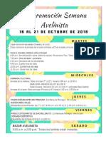 Agenda Semana Avelinista