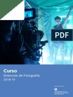 Curso Dirección Fotografía 2018-2019
