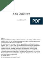 Case Discussion Live Class No. 1