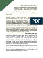 1.1 Objeto de Estudio- Economia
