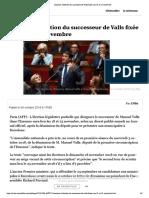 Essonne- l'élection du successeur de Valls fixée aux 18 et 25 novembre