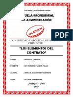 Los Elementos Del Contrato - Uladech