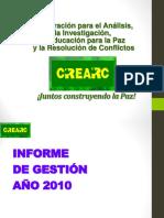 CREARC Informe de Gestión 2010