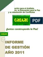 CREARC Informe de Gestión 2011