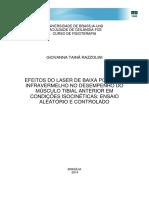 Efeitos do Laser de baixa potencia infravermelho no desempenho do MUSCULO TIBIAL ANTERIOR  em condiçoes isocinéticas.pdf