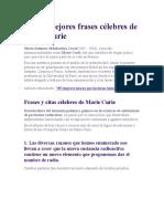 Las Frases Mas Ingeniosas de Marie Curie