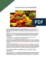 La importancia de la fruta en la alimentación deportiva
