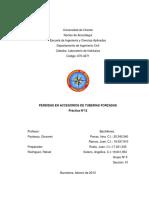 Laboratorio de hidráulica 03 - Perdidas Por Accesorios