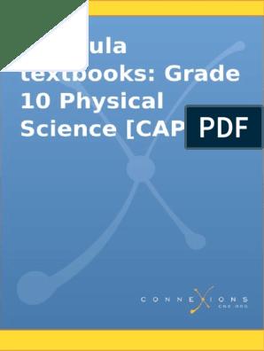 Siyavula Textbooks Grade 10 Physical Science Caps 7 2