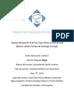 TRABAJO DE ORGANIZACIÓN DE EVENTOS