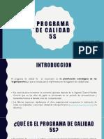Programa de Calidad 5s