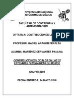 Contribuciones Locales en México
