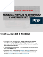 Applications of Automobile Textiles