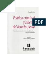 Políticacriminal y Sistema de Derecho Penal ROXIN, TRAD. MUÑOS CONDE