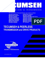 Tecumseh Peerless Transmission Transaxles Differentials Service Repair Manual 691218 Gear Transmission Mechanics