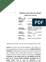 Proyecto de Resolución Exp. TEE-ISU-RAP-004-2010