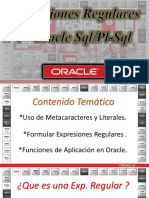 Oracle Regular Expressions / Expresiones Regulares en el DBMS  de Oracle