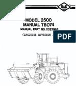 Manual de partes troyan 2500-TB074