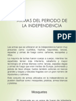 Unidad 4 Armas Periodo Independencia - José Elías Zúñiga
