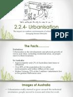 2.2.4- Urbanisation- Student