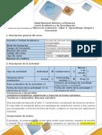 Guía de Actividades y Rúbrica de Evaluación - Taller 3 - Aprendizaje Colegial e Innovación