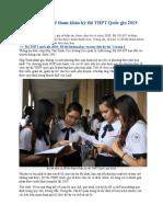 Sẽ Sớm Công Bố Đề Tham Khảo Kỳ Thi THPT Quốc Gia 2019