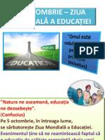 5 Octombrie Ziua Mondiala a Educatiei