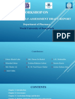 Workshop Program Self-Assessment Draft Report