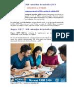 Regras ABNT 2018 e Modelos de Trabalho 2018