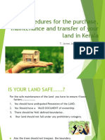 20 tips for the Best Purchase and Maintenance of land in Kerala- A land owner must know these procedures -ppt from T james joseph adhikarathil- ഭൂമി