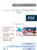 Achievement Test- Concept and Types