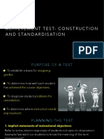 Construction of Achievement Test and Its Standardization