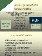 Contributii Ale Lui Rene Descartes La Dezvoltarea Matematicii