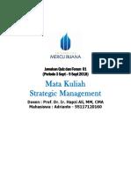 1, SM, Adrianto, Hapzi Ali, Strategic Management Process, Universitas Mercu Buana, 2018