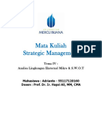 4, SM, Adrianto, Hapzi Ali, External Micro Environment Analysis & SWOT, Universtitas Mercu Buana, 2018
