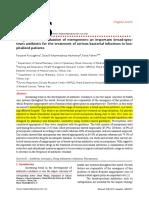 Drug Utilization Evaluation of Meropenem