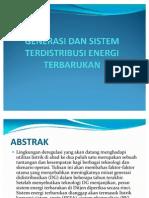 Generasi Dan Sistem Terdistribusi Energi Terbarukan