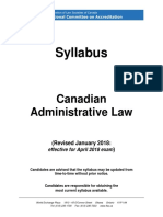 NCA Syllabus Administrative Law Jan 2018 for April 2018