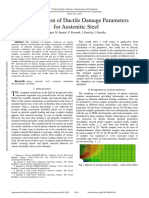 Identification of Ductile Damage Parameters for Austenitic Steel