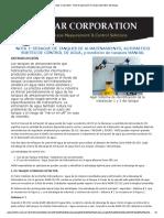 Agar Corporation Nota de Aplicacion Drenaje Automatico Del Tanque