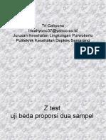 19597087 Statistik Z Test Uji Beda Proporsi Dua Sampel