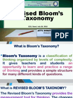 Bloom's Taxonomy - My Presentation