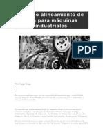 Plan de Alineamiento de Ejes Para Máquinas Industriales