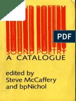 McCaffery and Nichol.sound Poetry.a Catalogue