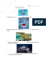 Worksheet Intervention 2 Care for the Sea